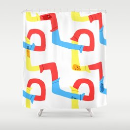 Hamster tube fun time Shower Curtain