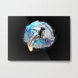 Space Shredder Metal Print