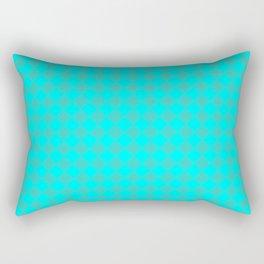 Cyan and Turquoise Diamonds Rectangular Pillow