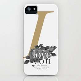 You Complete Me - LOVE #society6 #love #buyart iPhone Case