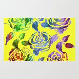 Roses Pattern ZZZ Rug