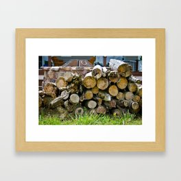 Pieces of Trees Framed Art Print