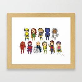 Super Cute Heroes: X-Men Framed Art Print