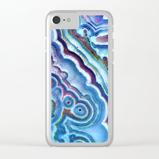 Agate chalcedony Clear iPhone Case