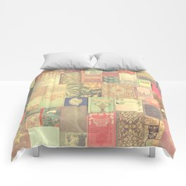 Dream with Books - Love of Reading Bookshelf Collage Comforters