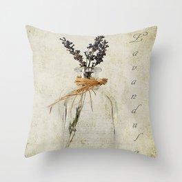 Lavandula / Lavander Throw Pillow
