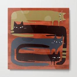 CAT QUAD Metal Print