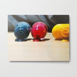 Nail art color spa Metal Print
