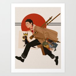 V X Basquiat Art Print