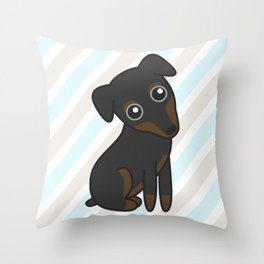 Rylee the Min Pin Throw Pillow
