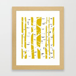 Mustard Birches Framed Art Print