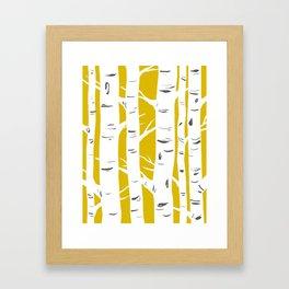 Mustard Birches Framed Art Print
