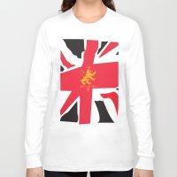 uk Long Sleeve T-shirts featuring UK by John Choi King