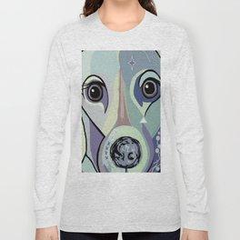 Dachshund in Denim Colors Long Sleeve T-shirt