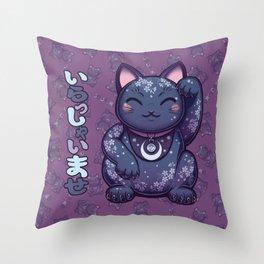 Hanami Maneki Neko: Ren Throw Pillow
