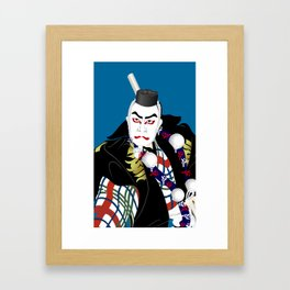 Kabuki actor vector #2 Framed Art Print