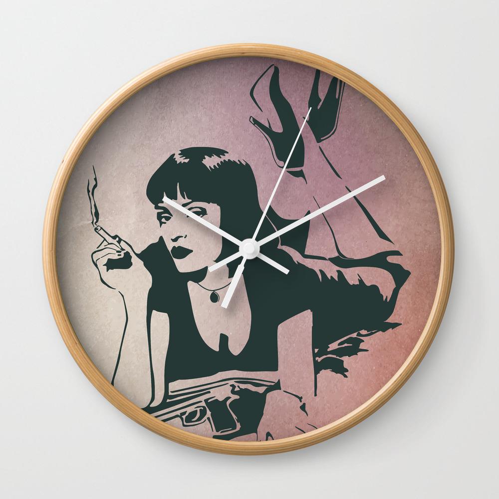 Pulp Fiction, Mia Wallace Wall Clock by Munamia CLK7797719