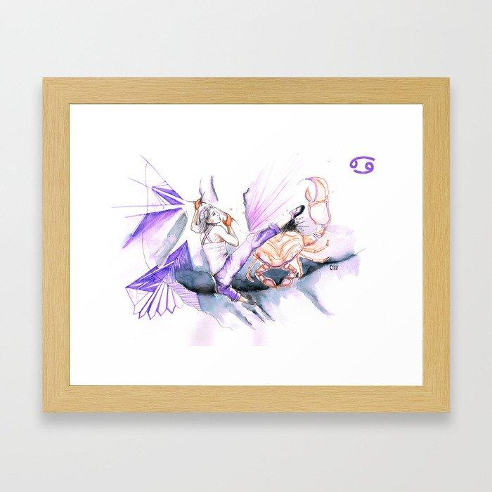 Couragious Cancer Framed Art Print