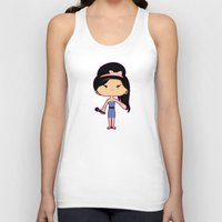 amy poehler Tank Tops featuring Amy by Sombras Blancas Art & Design