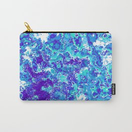 Blue Abstract Design Carry-All Pouch