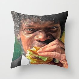 Tasty Burger Throw Pillow