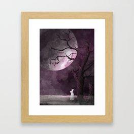 Spooky Wabbit Framed Art Print