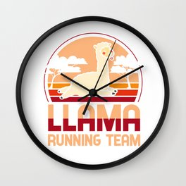 Llama running team - Llama, alpaca Wall Clock