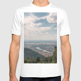 Picturesque view of the romantic Heidelberg from the hill of Heiligenberg T-shirt