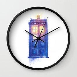 Blue box Wall Clock