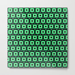 Mod Green Squares Metal Print