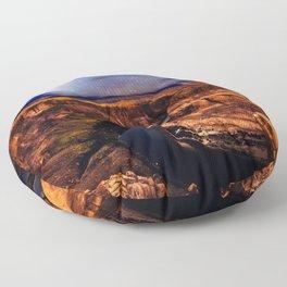 Horseshoe Bend Starseeds - Starry Sky Night at Grand Canyon Arizona Floor Pillow