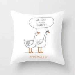 Apologeese Throw Pillow