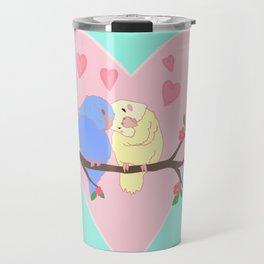 Valentine's day birds Travel Mug