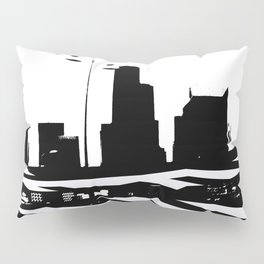 City Scape in Black and White Pillow Sham