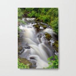 Welsh Falls Metal Print