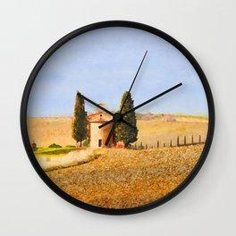 Tuscany watercolor painting #13 Wall Clock