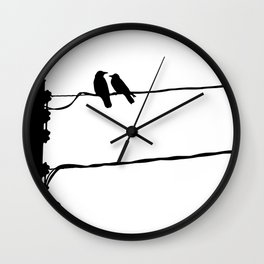 Powerline Love Birds Wall Clock