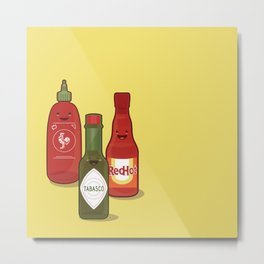 The Hot Sauces Metal Print