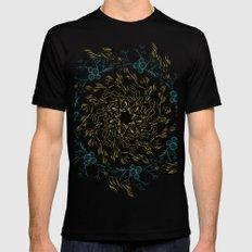 Floral Mandala MEDIUM Mens Fitted Tee Black