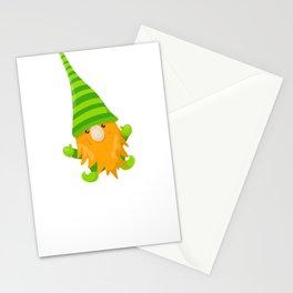 Kids Saint Pats Day Leprechaun Garden Gnome Stationery Cards