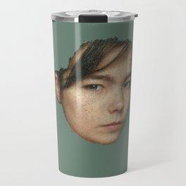 Little squares of Björk Travel Mug