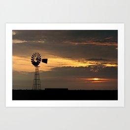 African Summer Sunset 1 Art Print