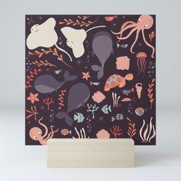 Sea creatures 002 Mini Art Print