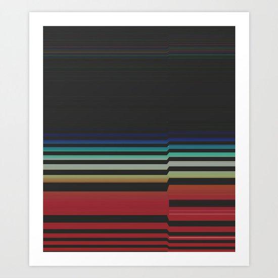 Let's Stripe Art Print