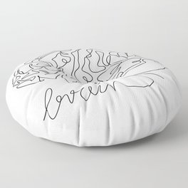 Brain one line drawing Floor Pillow