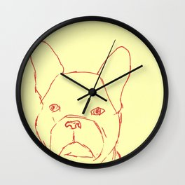 Sketched Frenchie Wall Clock