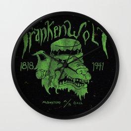 FrankenWolf Wall Clock