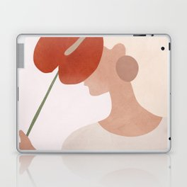 Lady with a Red Leaf Laptop & iPad Skin