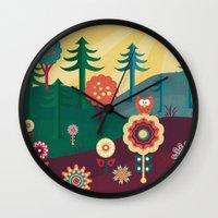 sunshine Wall Clocks featuring Sunshine by Kakel