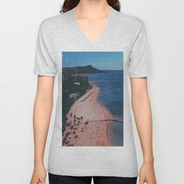 In The Sky Over Hawaii Unisex V-Neck